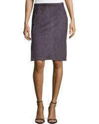 Halston Heritage Ultrasuede® Slit Pencil Skirt - Lyst