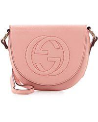 Gucci Girls Interlocking G Messenger Bag - Lyst