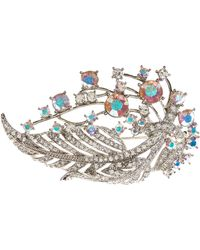 Brooks Brothers - Crystal Feather Brooch - Lyst