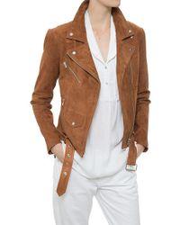 VEDA Jayne Suede Jacket brown - Lyst