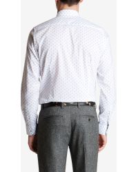 Ted Baker Hexwiz Hexagonal Print Classic Fit Shirt - White