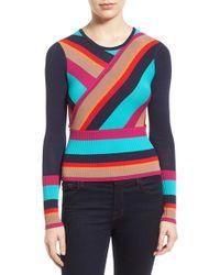 Plenty by Tracy Reese - 'directional' Stripe Sweater - Lyst