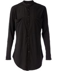 Lost & Found Mandarin Collar Shirt - Lyst