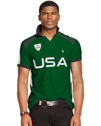 Polo Ralph Lauren Custom-fit Snow Usa Polo - Lyst