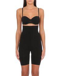 Spanx Slim Cognito Shaping Mid Thigh Bodysuit Black - Lyst