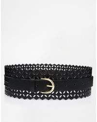 Asos Waist Belt With Laser Cut - Lyst