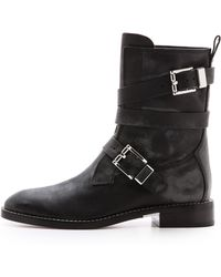 Alexander Wang Louise Moto Boots  Black - Lyst