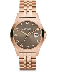 Marc By Marc Jacobs Henry Slim Rose Goldtone Stainless Steel Bracelet Watch/Dirty Martini - Lyst