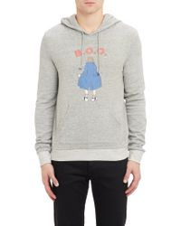 Band Of Outsiders Boo Flasher-print Hoodie - Lyst