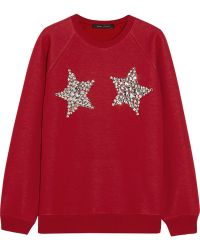 Marc Jacobs Embellished Knitted Sweater - Lyst