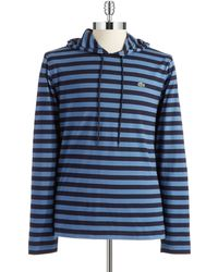 Lacoste Hooded Striped Tee - Lyst