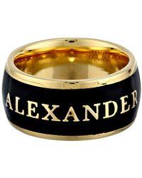 Alexander McQueen Enamel Ring - Lyst