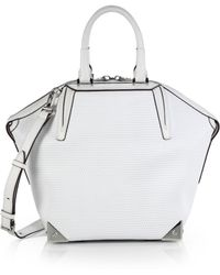 Alexander Wang - Emile Small 3d Mesh Leather Tote - Lyst