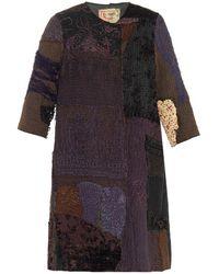 By Walid Vintage Crochet Patchwork Swing Coat - Lyst