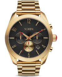 Nixon The Bullet Chrono Watch, 42Mm gold - Lyst