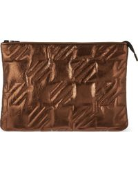 Maje Leather Pouch Cuivre - Lyst