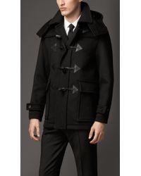Burberry Wool Cashmere Duffle Coat - Lyst