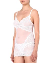 L'agent By Agent Provocateur White Vanessa Slip - Lyst
