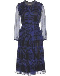 Burberry Brit Elenor Printed Silk Dress - Lyst