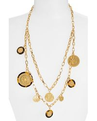 Tory Burch 'Shiloh' Double Strand Necklace - Lyst