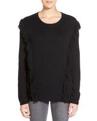 Trouvé | Fringe Crewneck Sweater | Lyst