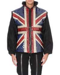 Jean Paul Gaultier Union Jack Quilted Jacket Multi - Lyst