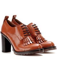 Valentino Leather Derby Pumps - Lyst