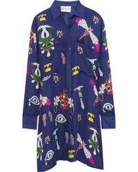 Mary Katrantzou Oriane Printed Silkgeorgette Shirt Dress - Lyst
