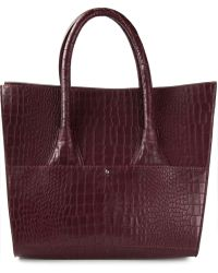 Hotel Particulier Crocodile Skin Effect Tote - Lyst