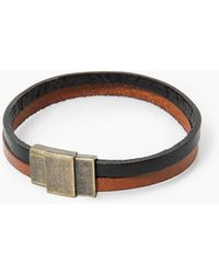 Mango - Leather Double Bracelet - Lyst