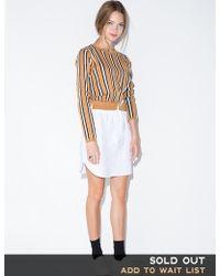 Pixie Market Stripe Sweater Shirt Dress beige - Lyst