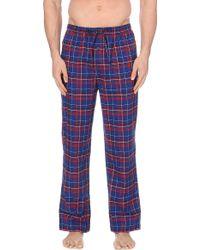 Ralph Lauren Checked Cotton Flannel Pyjama Bottoms - Lyst