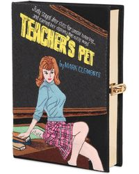 Olympia Le-Tan Teacher'S Pet Embroidered Book Clutch - Lyst