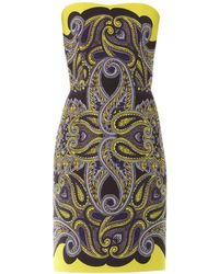 Lanvin Paisley-Print Techno-Mesh Dress - Lyst