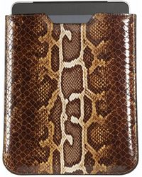 Graphic Image - Ipad Sleeve In Faux Brown Python - Lyst