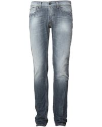 Gilded Age Morrison Blue Gray Jeans - Lyst