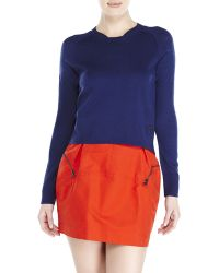 See By Chloé See By Chlo㉠Navy Knit Sweater - Lyst