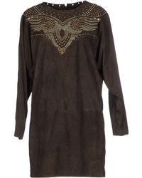 Isabel Marant Short Dress brown - Lyst