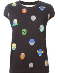 Stella McCartney Superstellaheroes Short Sleeve Sweatshirt - Lyst