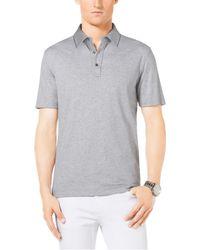 Michael Kors Cotton-pique Polo Shirt - Lyst