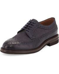 Brunello Cucinelli Wing Tip Lace-Up Oxford - Lyst