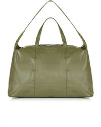 TOPSHOP - Large Leather Luggage Bag - Lyst