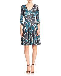 Erdem Moorea Sheath Dress blue - Lyst