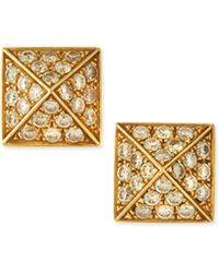 Anita Ko Pyramid Diamond Stud Earrings - Lyst