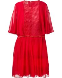 Giambattista Valli Mesh Panel Dress - Lyst