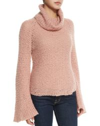 Calypso St. Barth - Cherita Long-Sleeve Crochet Sweater - Lyst