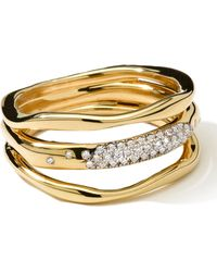 Ippolita | 18k Gold Stardust Squiggle Ring with Diamonds | Lyst