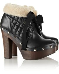 RED Valentino Quilted Leather Ankle Boots - Lyst