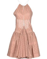Alaïa Short Dress pink - Lyst