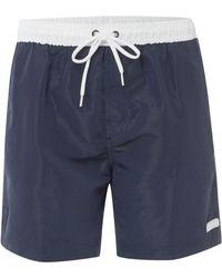 Calvin Klein Contrast Waist Band Quick Dry Swim Short - Lyst